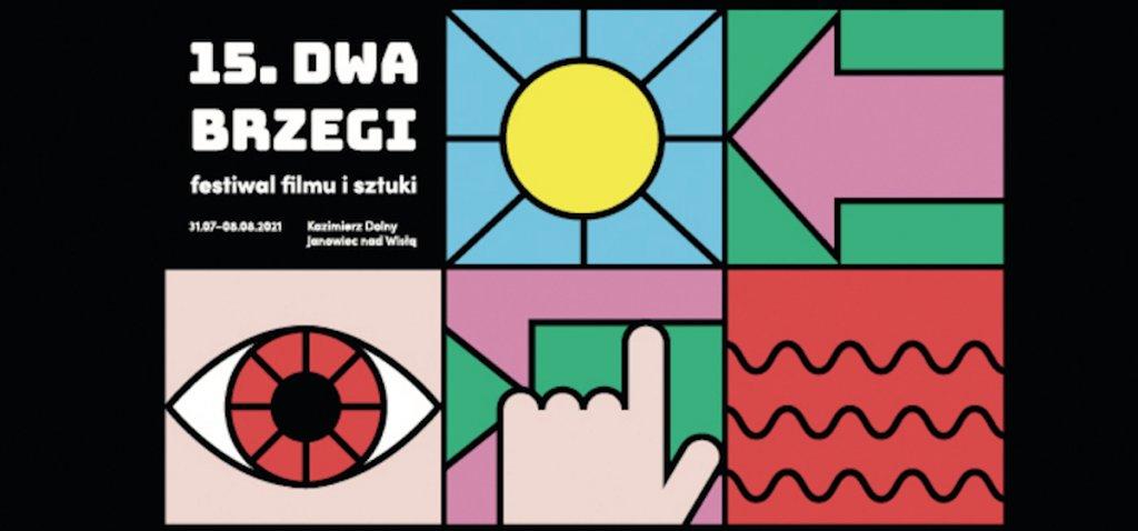 Grafika festiwalu filmu i sztuki Dwa Brzegi.