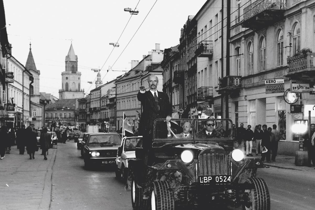 Przejazd Janusza Korwina Mikke przez Lublin.