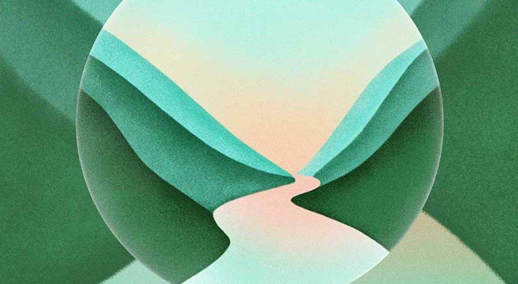 Plakat targów o zielnej kolorystyce.