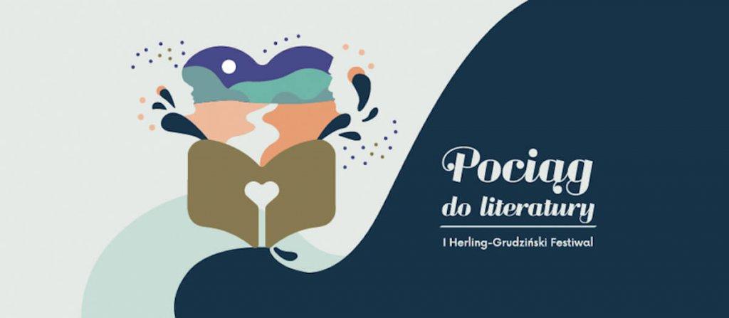 Plakat Festiwalu Pociąg do literatury.