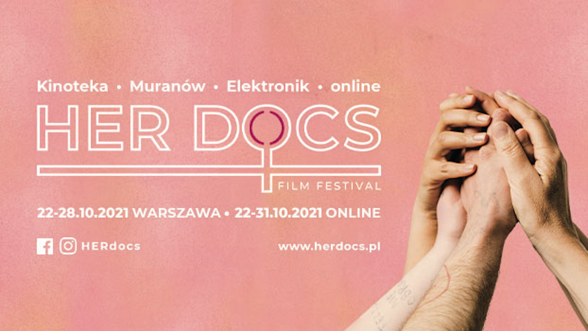 Plakat festiwalu filmowego HerDocs.
