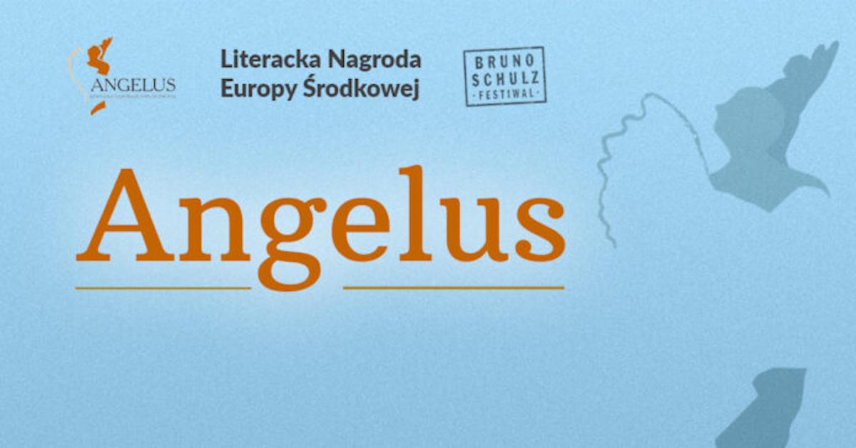 Plakat literackiej nagrody europy środkowej Angelus.
